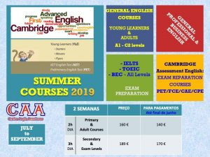 SUMMER COURSES 2019